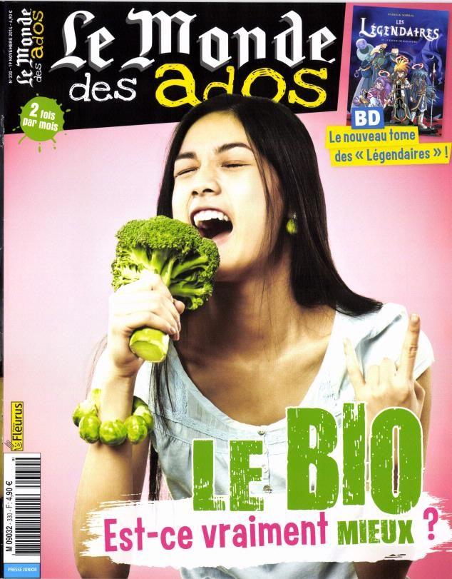 """Le Monde des ados n°330 : Dossier Fred & Jamy """"Le Bio, pourquoi ça marche ?"""" - Actu : """"A quoi ça sert de se poser sur une comète ?"""" - Décryptage : """"Bolivie : au travail dès 10 ans"""""""