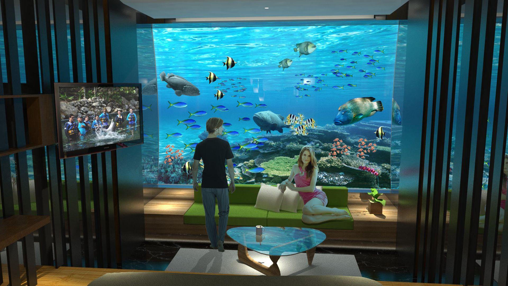 Underwater Bedroom - Google Real Estate Floating
