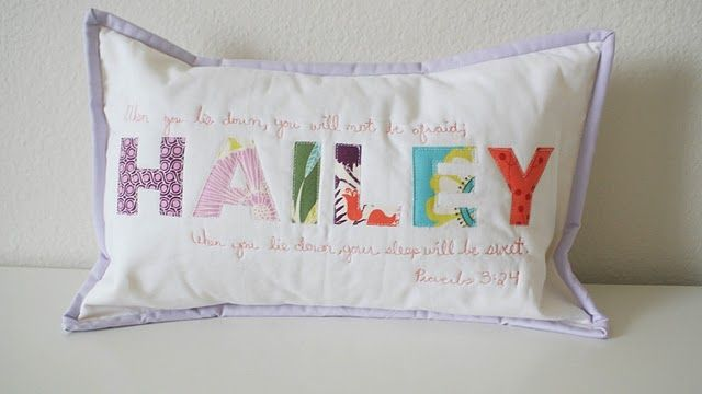 Wow, I love this! I want the girls' names and Scripture painted above each of their beds! Can't wait to do this! How sweet?!