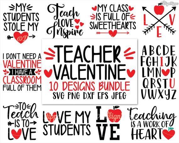Download Teacher valentine svg Bundle PNG Abc I love you Teacher ...