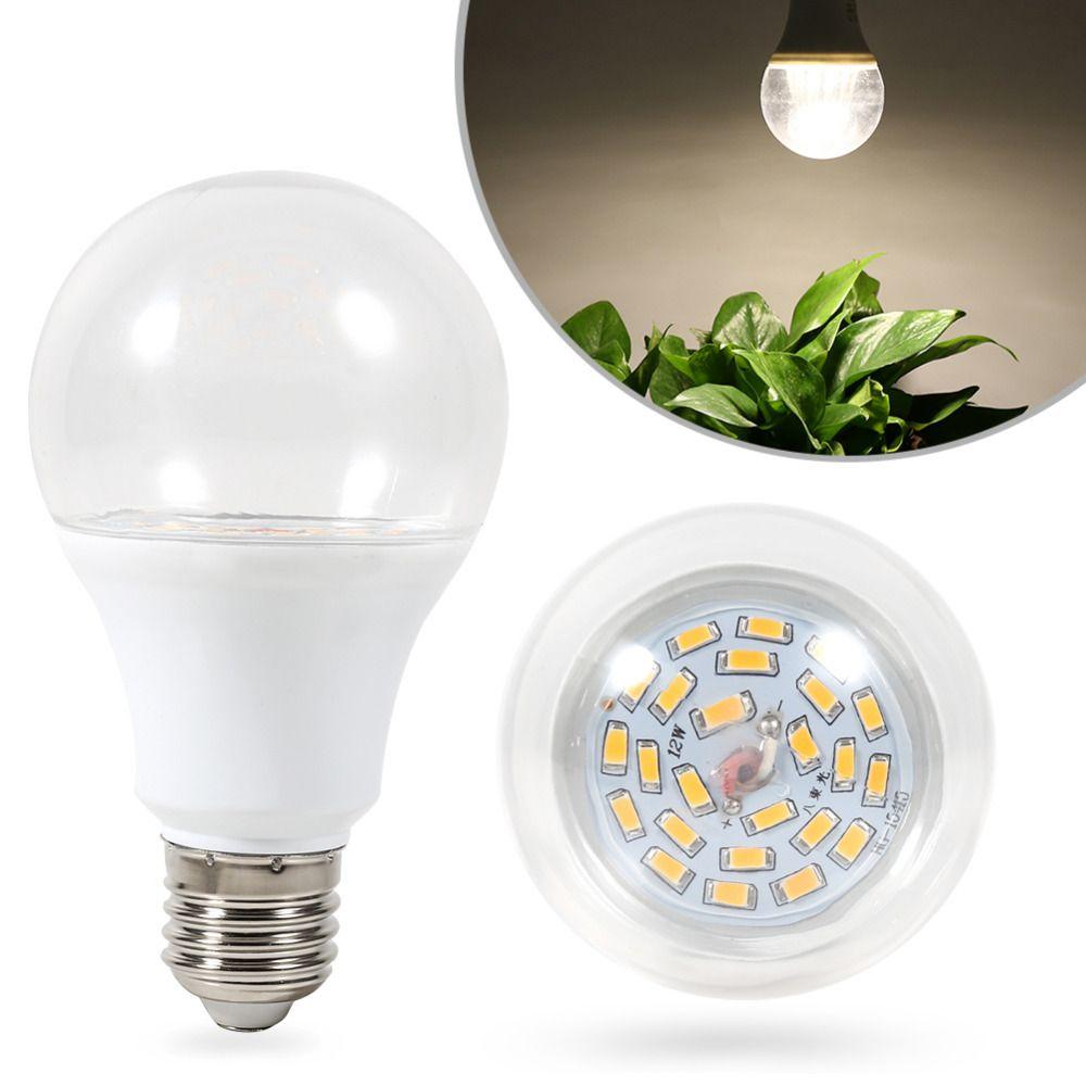 E27 Grow Bulb Light 14 24leds 7 12w Waterproof Grow Light Led Bulb Clear Cover For Greenhouse Veg Flower Plants Growing Bulbs Light Bulb Led Grow Lights