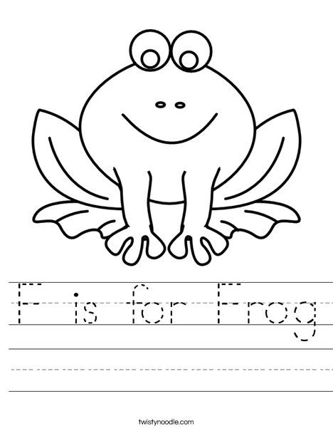 F is for Frog Worksheet - Twisty Noodle | crafts | Pinterest | Frogs ...