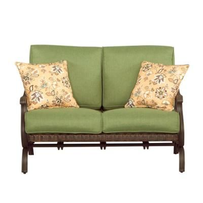 Hampton Bay, Pembrey Patio Loveseat With Moss Cushion, At The Home Depot    Tablet