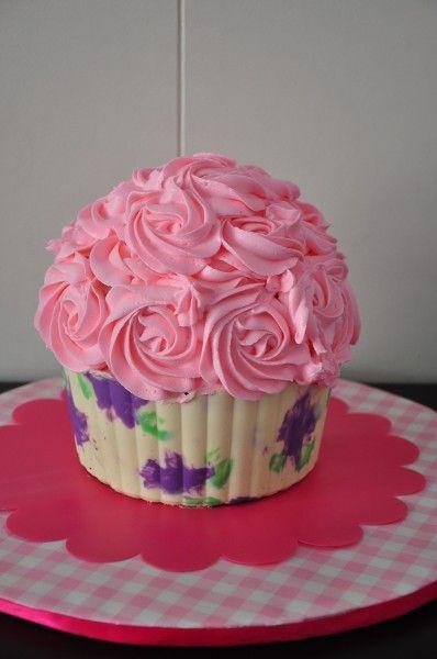 Printed Giant Cupcake Shell Tutorial Giant Cupcake Cakes