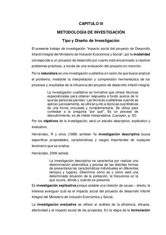 CAPITULO III METODOLOGÍA DE INVESTIGACIÓN Tipo y Diseño de ...
