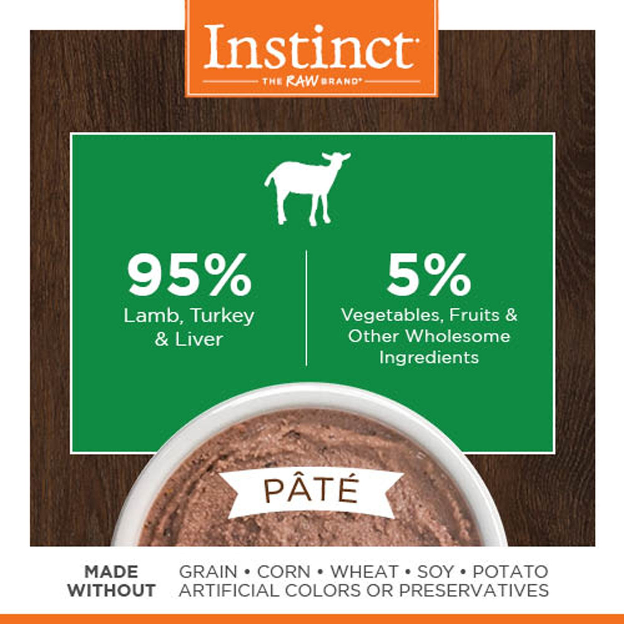 Instinct grainfree lamb canned cat food by natures