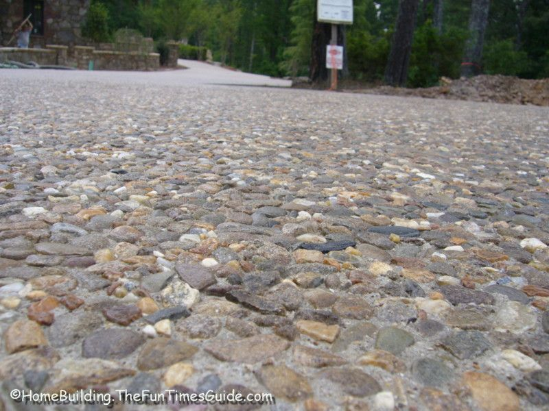 Customize your new driveway by incorporating embedded for New driveway ideas