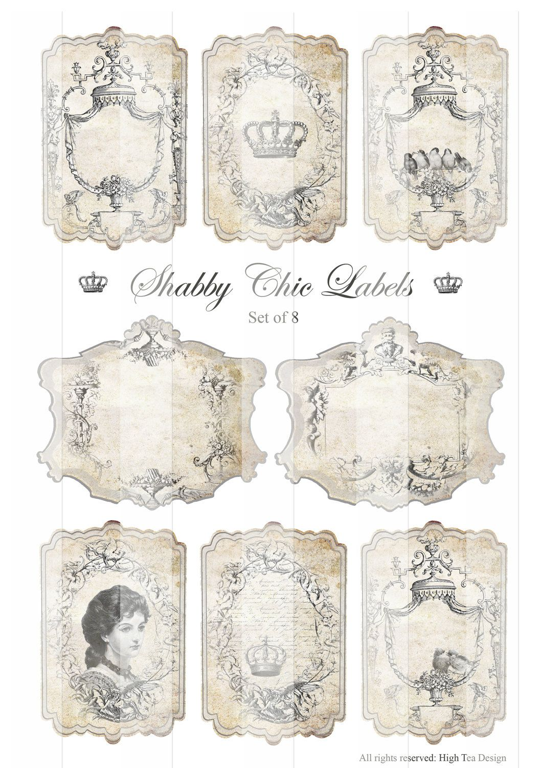 image detail for shabby chic labels gift tags epherma hang tags digital collage. Black Bedroom Furniture Sets. Home Design Ideas