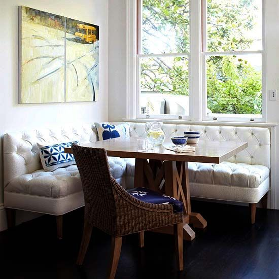 Breakfast Nook With Victoria Hagan Table Check Out Ballard Designs For Their Bench Seating Including