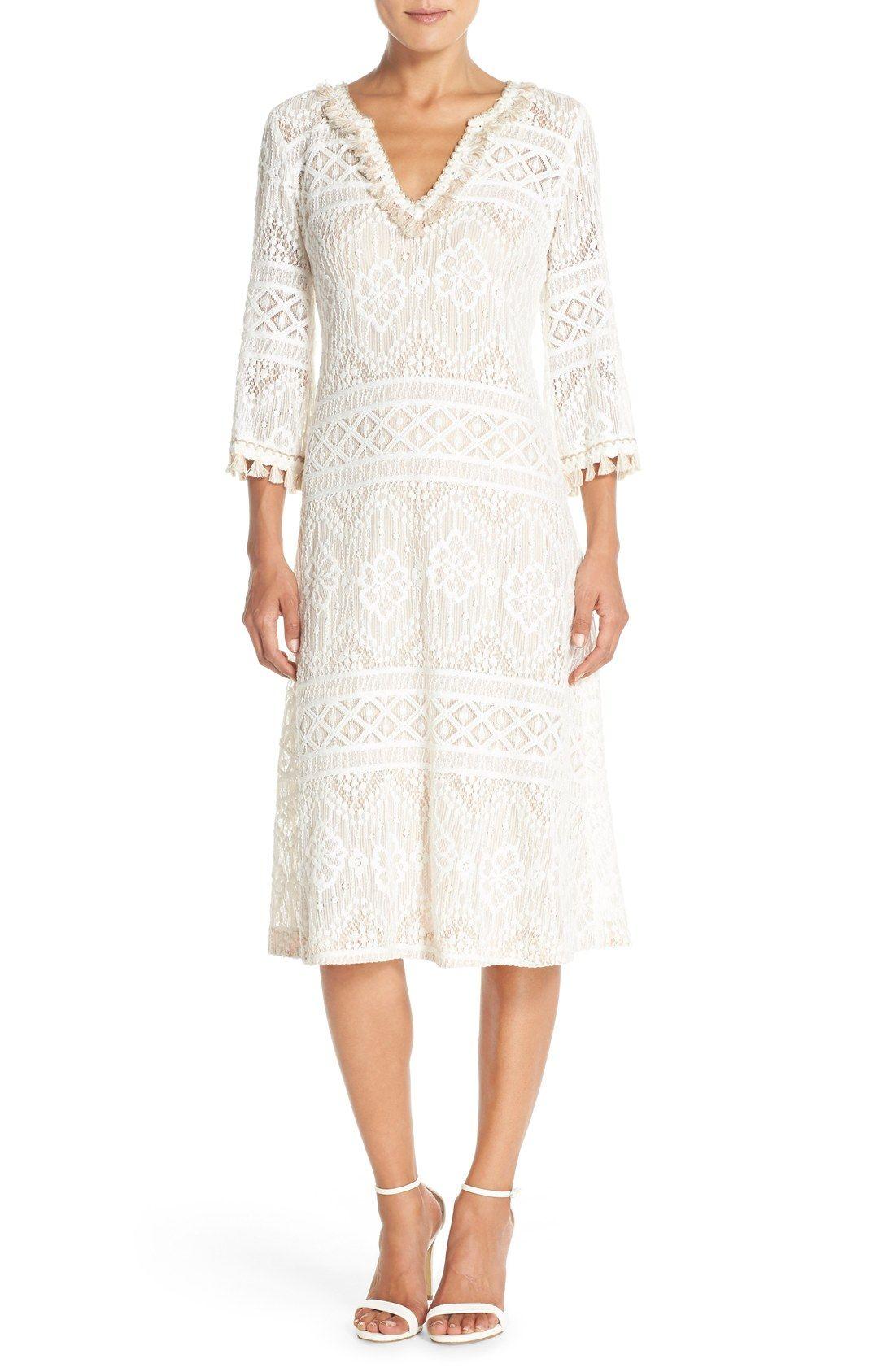 Trina Turk Lace Midi Dress