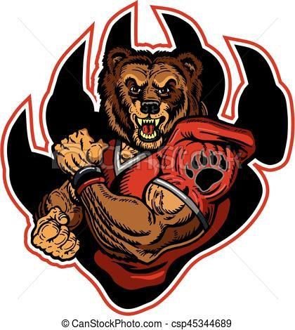 vector bears football stock illustration royalty free rh pinterest com