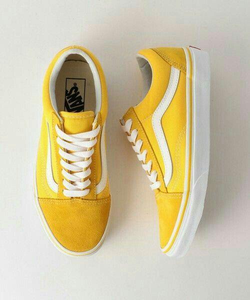 vans chaussure femme jaune