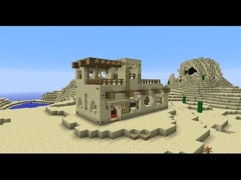 Building With Grian - Minecraft Desert House - YouTube   Minecraft