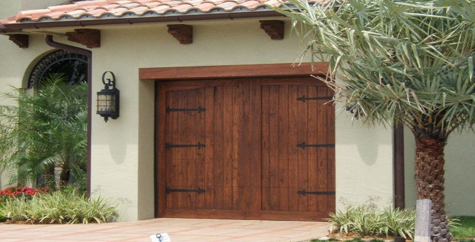 Elements collection faux for Faux wood garage doors prices