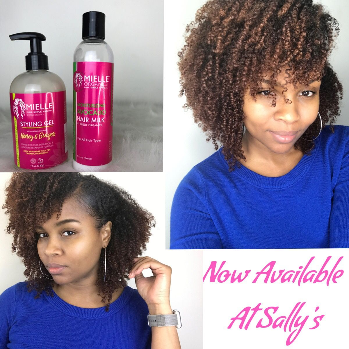 Wash and go using Mielle Organics Avocado Hair Milk and Honey & Ginger gel. Now available at Sally Beauty Supply Store.