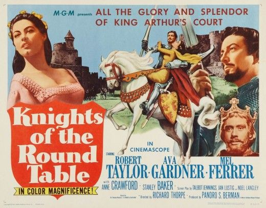 Robert taylor 100 years of movie posters 96 movie for 13 knights of the round table