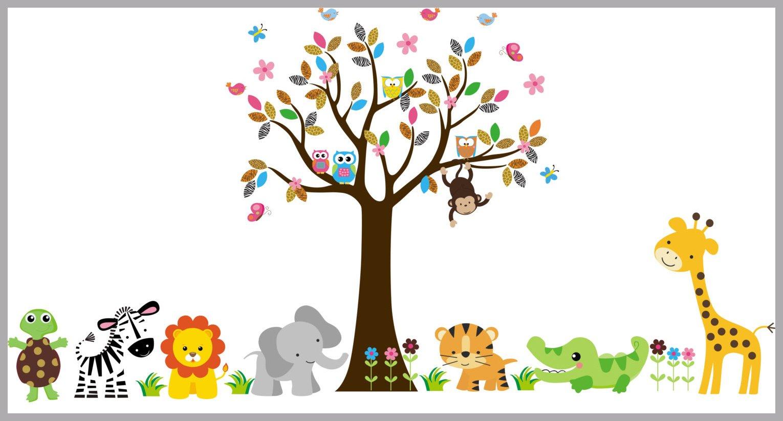 Baby Animal Decals Safari Wall Nursery
