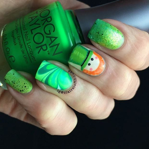 19 Glam St. Patrick\'s Day Nail Designs from Instagram