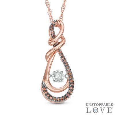 Unstoppable Love       1 6 CT  T W  Champagne and White Diamond Infinity     Diamond