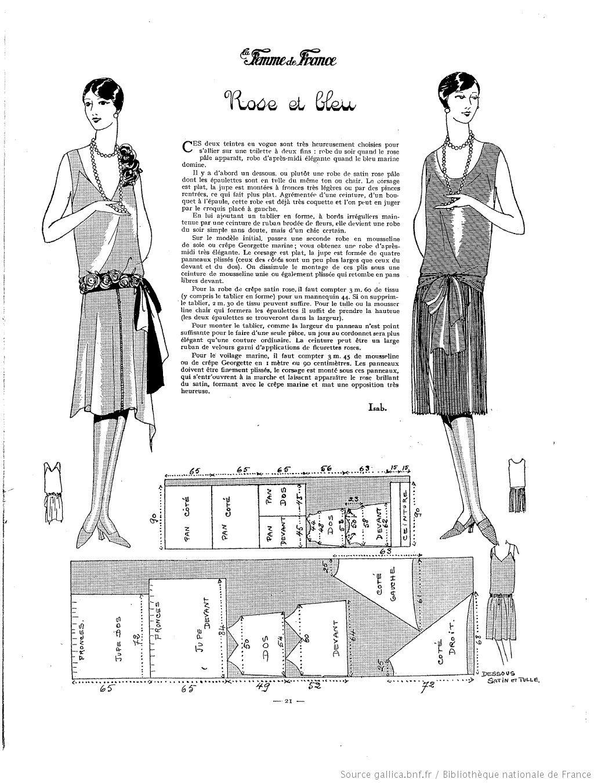 La Femme de France | 1927-05-08 | Gallica | sewing | Pinterest ...
