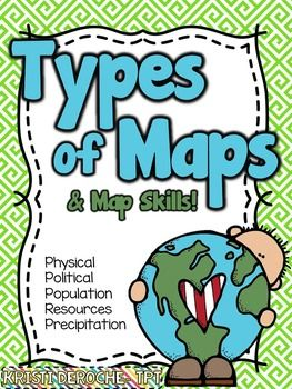 Types Of Maps And Map Skills Pack Social Studies Grades 2 5 Back To School Social Studies Maps Map Skills 3rd Grade Social Studies