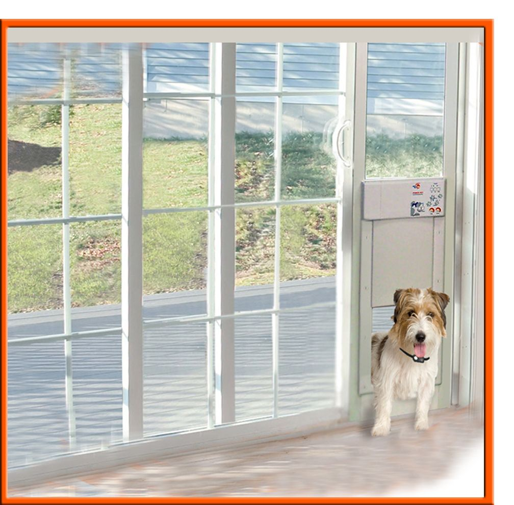 Power Pet Electronic Pet Door For Sliding Glass Patio Doors Dog