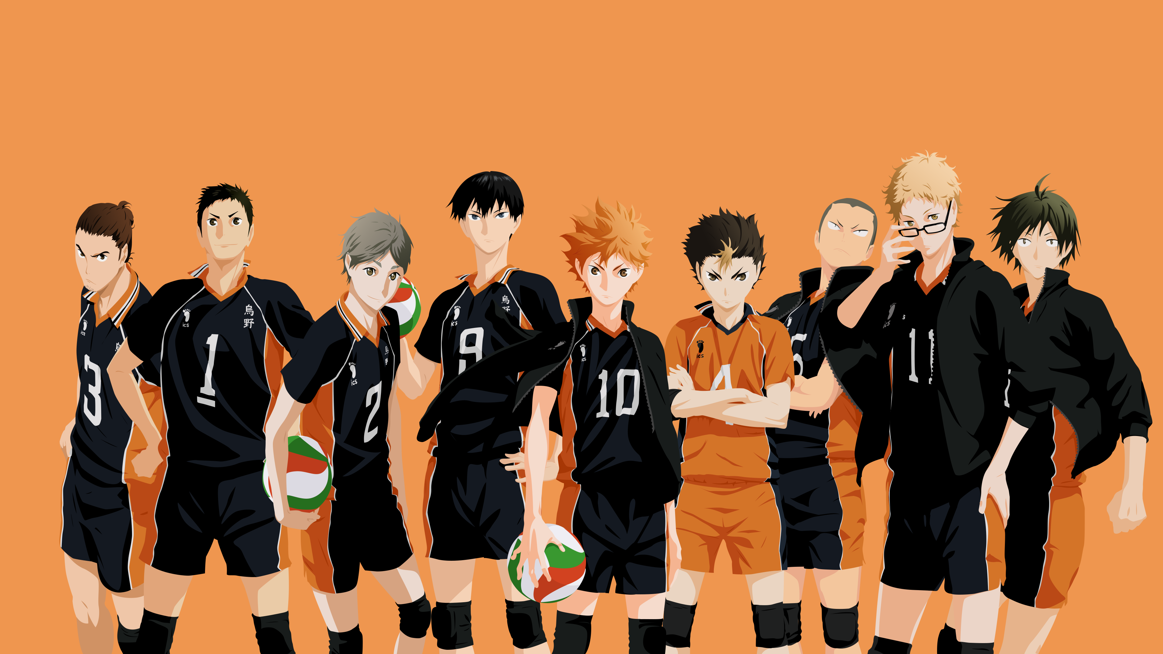 Karasuno Volleyball Team Desktop Wallpaper In 2020 Haikyuu Wallpaper Cute Anime Wallpaper Team Wallpaper