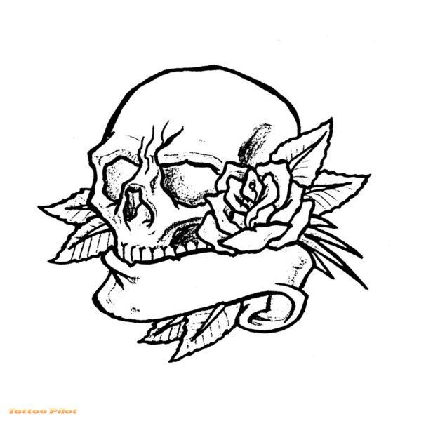 fish drawings designs for tattoos afrenchieforyourthoughts skulls rh pinterest com skull tattoo no outline skull tattoo outline