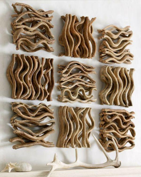 Cr er une deco murale du bois flott to try pinterest du bois driftwoo - Idee deco bois flotte ...