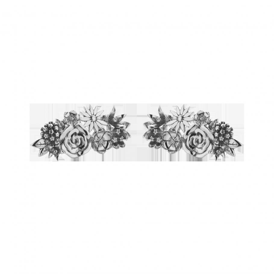 Meadowlark Overgrown Stud Earrings - Sterling Silver $295