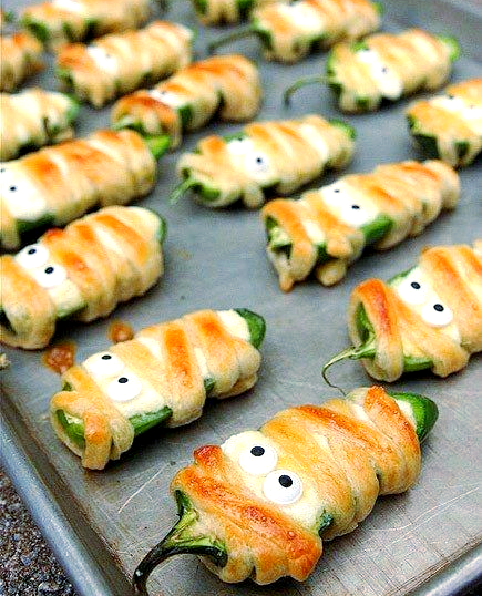 Halloween Jalapeño Mummies Recipe Halloween food for