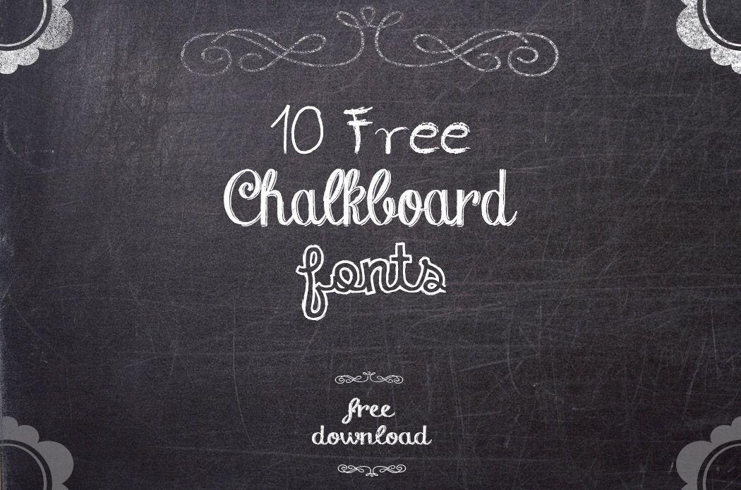 Chalkboard Fonts, decidi fazer download de uma delas, para ...