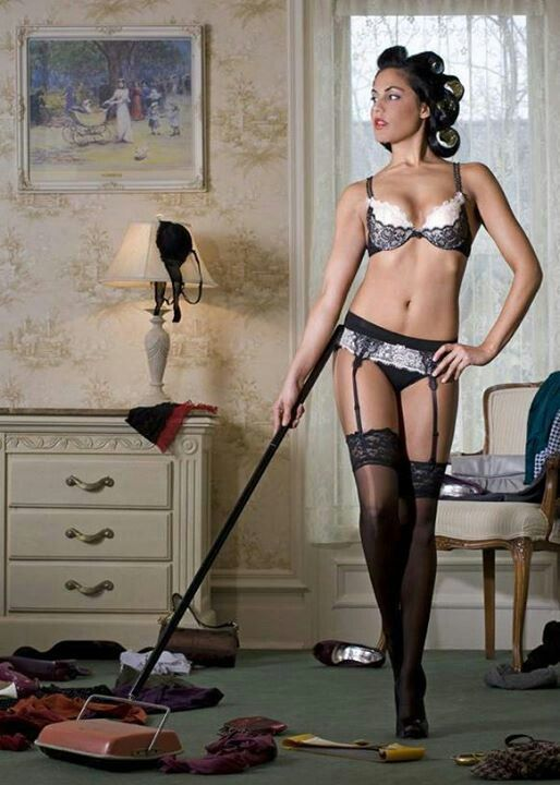 Sexy vacuuming