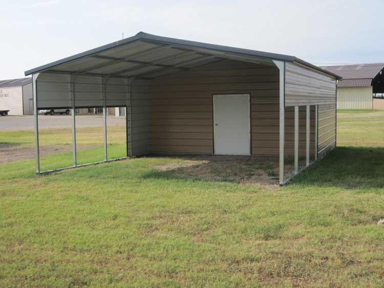 Storage Building With A Carport Carport Sheds Metal Buildings