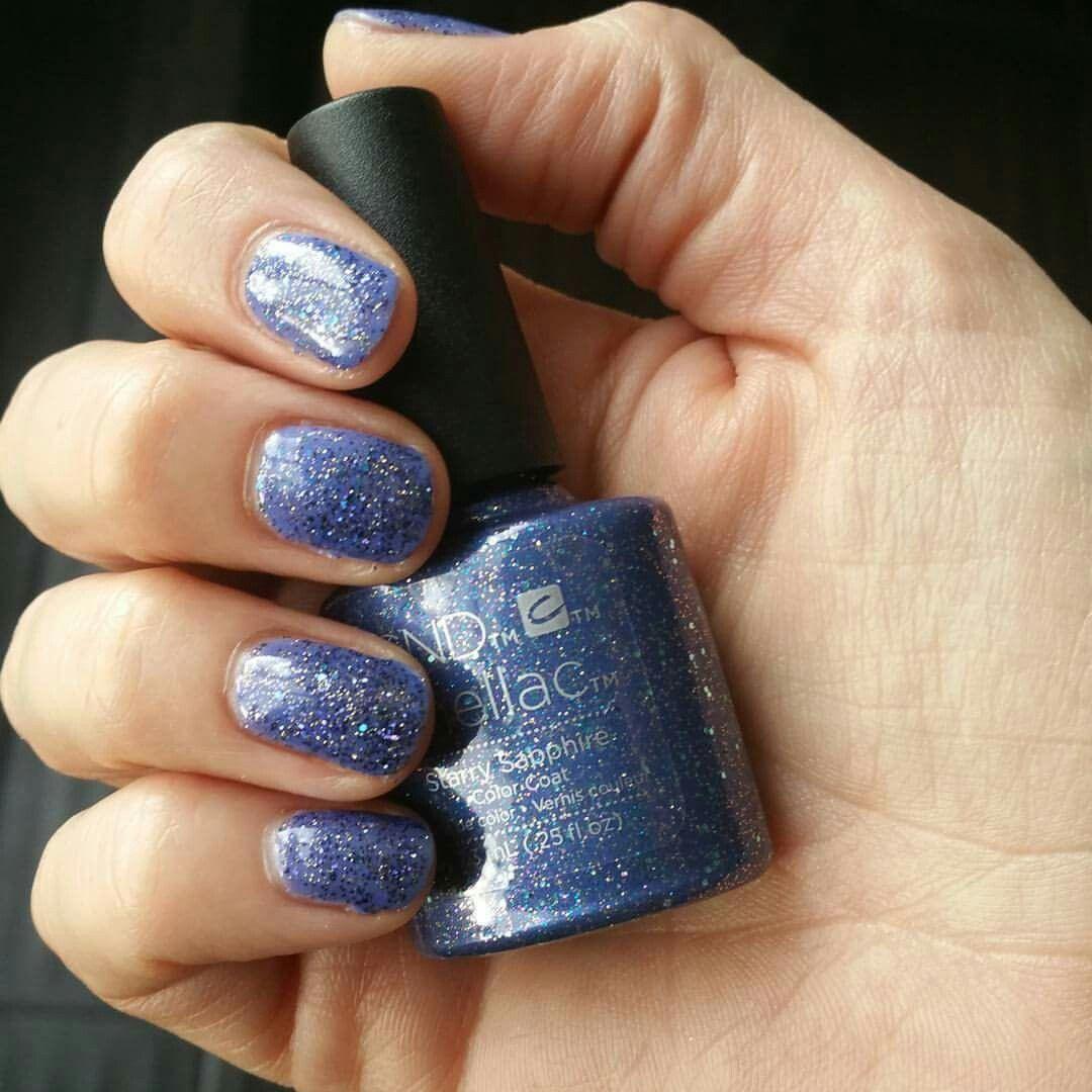 Shellac, starry sapphire Shellac, Cnd shellac, Nail polish