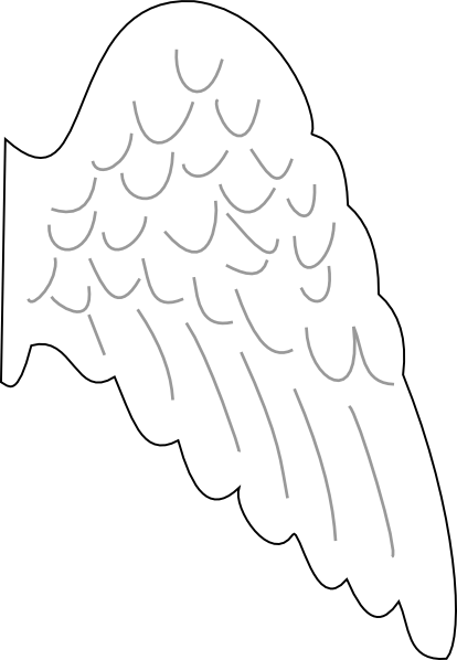 angel template angel wing clip art vector clip art online