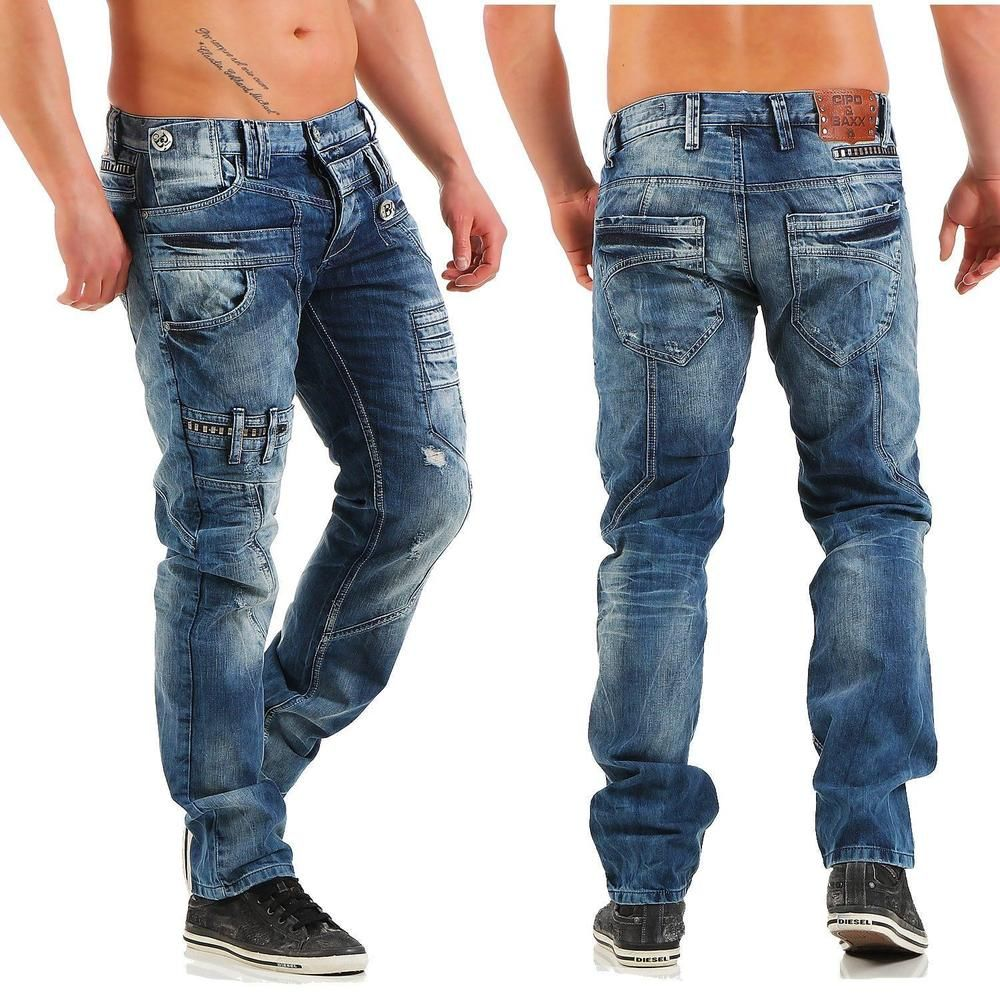 Cipo & Baxx Herren Jeans Clubwear Designer Jeans CD-119 Hose | eBay