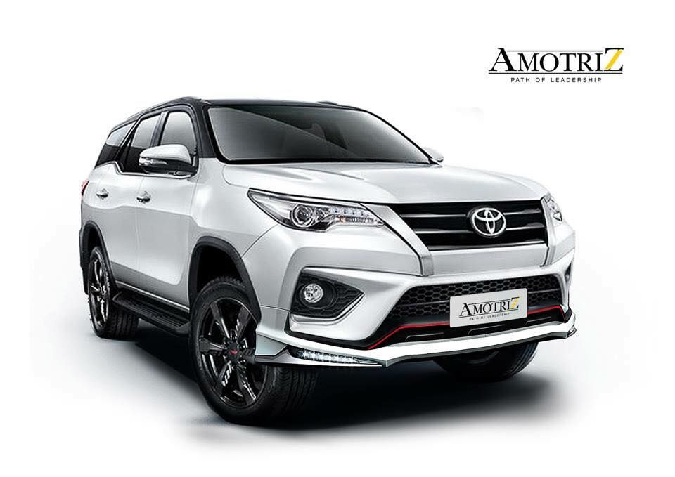 Amortriz Body Kit For The Toyota Fortuner Trd Launched In Thailand Car Rental Fortuner Trd Toyota Fortuner Trd