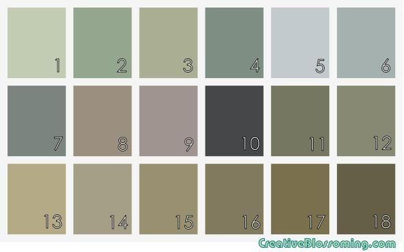 Sacred E Paint Colors Muted Gray Earth Tones Soft Blue Green Purple Lavender Taupe Brown Sage Olive Slate Tan Neutral