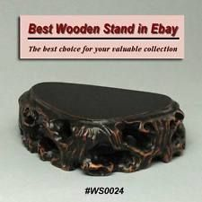 Handcrafted Hard Wood Stand For Netsuke, Figurine, Carving Display (WS0024)