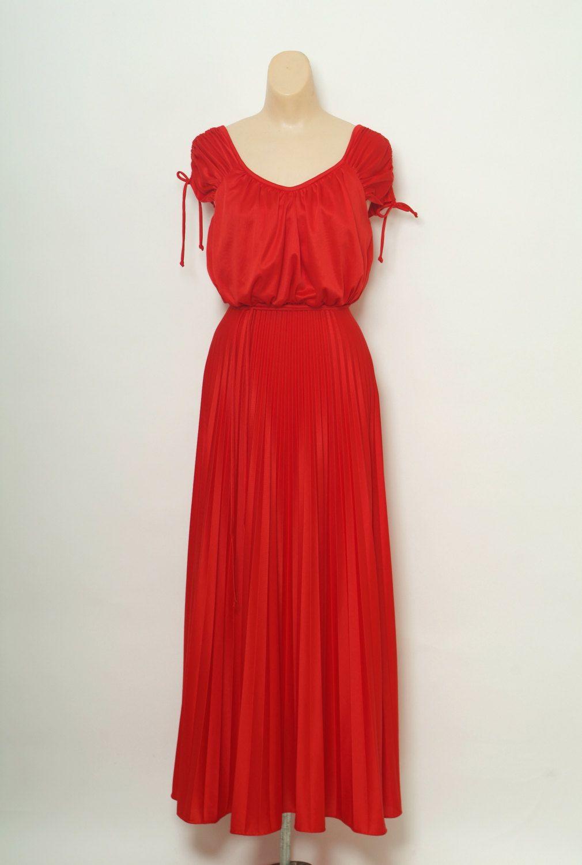 Vintage 70s Red Dress Disco Dress 70s Prom Dress 1970s Dress Vintage Gown Full Length Maxi Dress Red Dress Studio 54 Dress Disco Dress Disco Dress 70s 70s Dress [ 1500 x 1010 Pixel ]