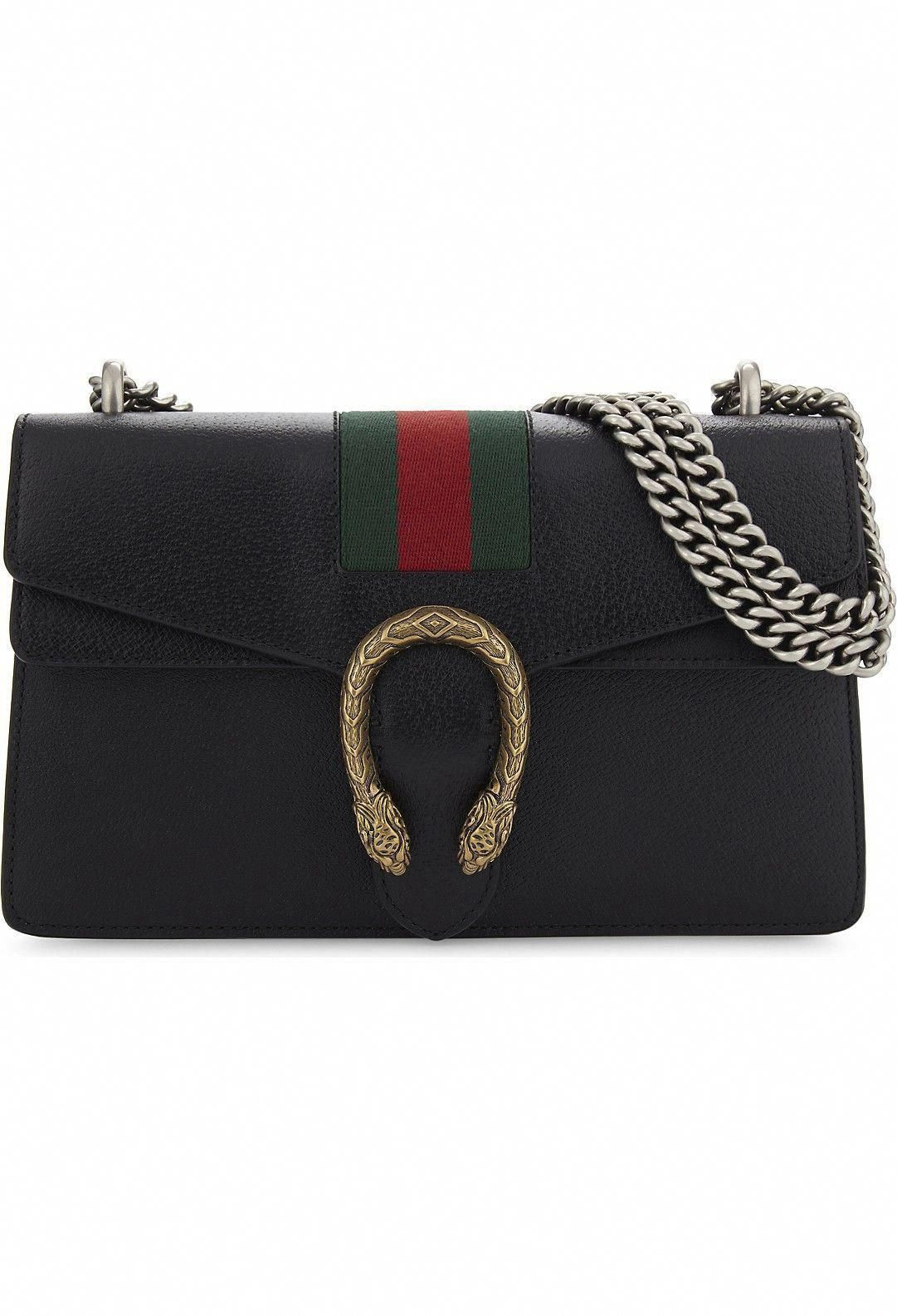 439201bbb8a GUCCI - Dionysus web stripe small leather shoulder bag
