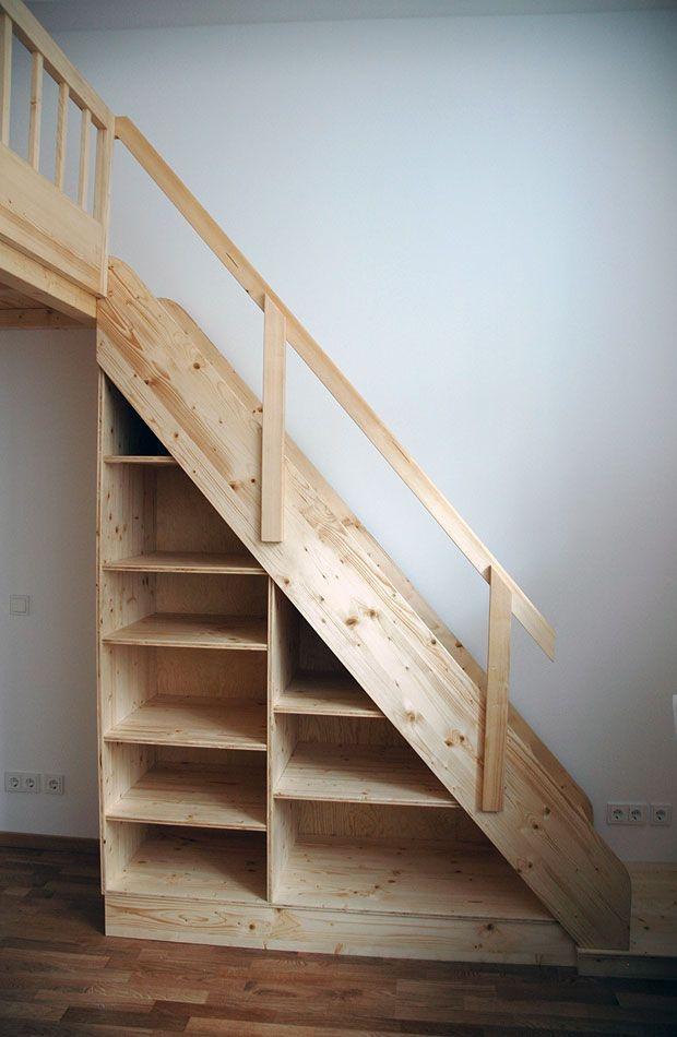 Hochbett und Regaltreppe - dein Tischler in Leipzig dein Tischler in - hochbetten erwachsene kleine wohnung