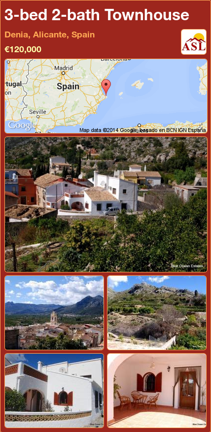 Townhouse for Sale in Denia, Alicante, Spain with 3