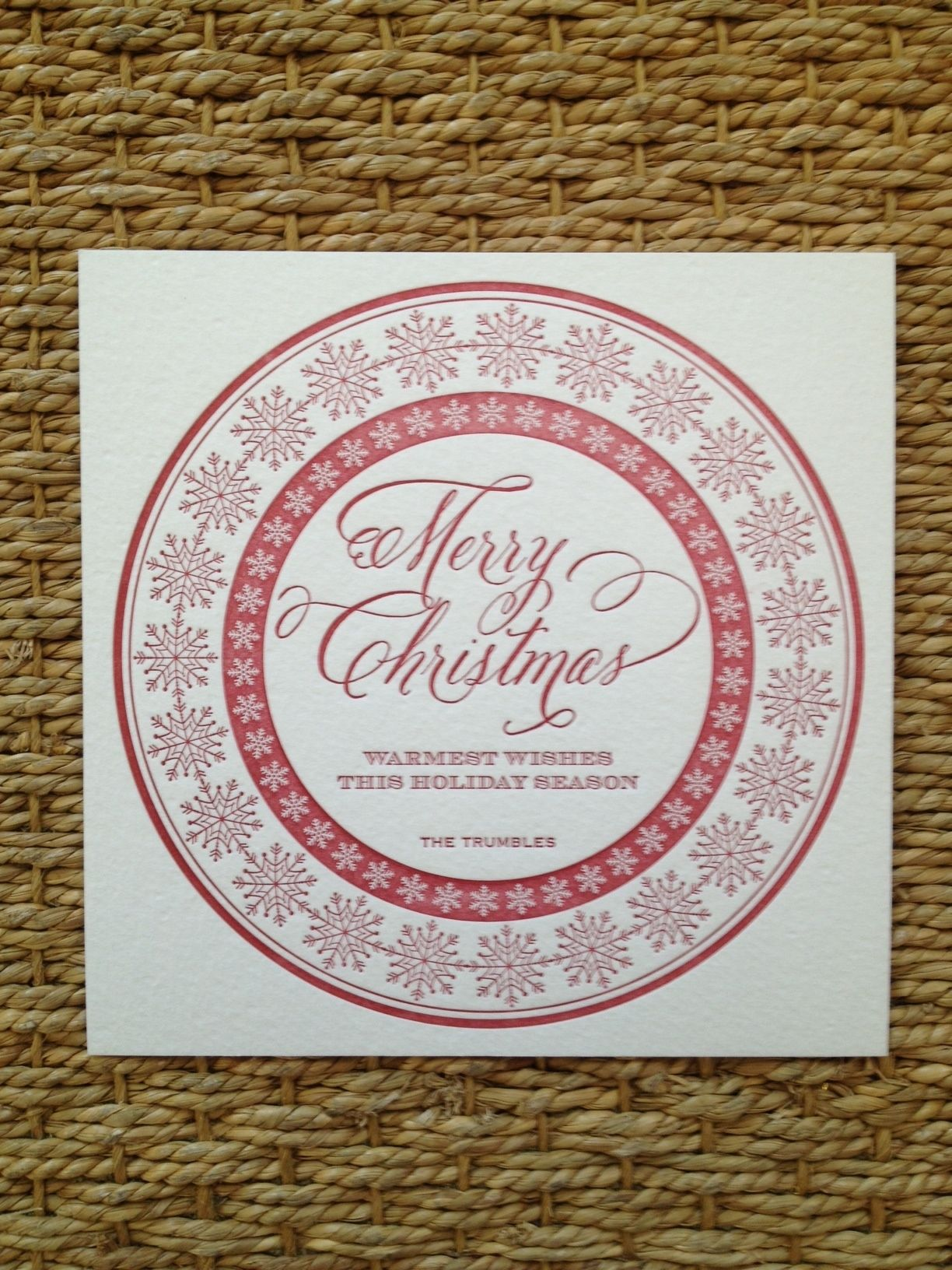 avery address labels wedding invitations%0A Letterpressed Holiday Card by Page Stationery Available at Hayden Avery