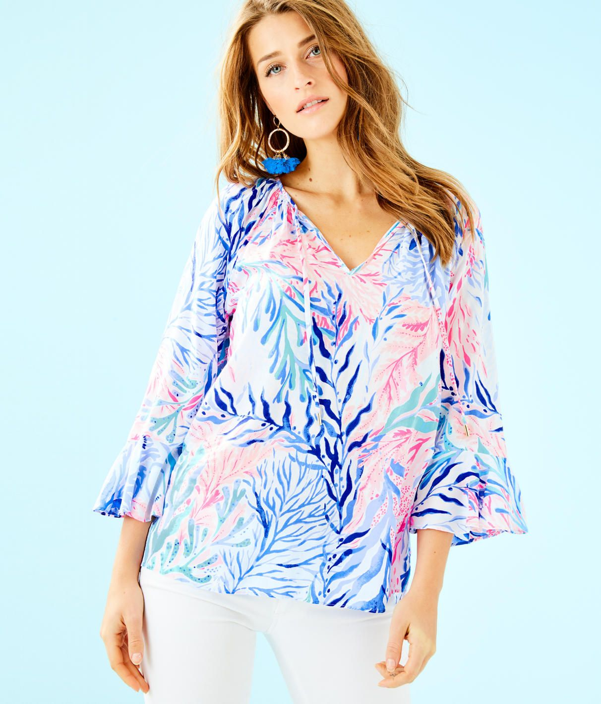 f30a321db3e108 Lilly Pulitzer UPF 50+ Luxletic Frida Polo Top in 2019   Products   Mens  tops, Tops, Men casual