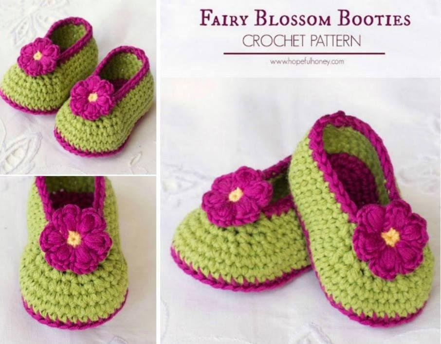 Crochet Baby Booties Pattern Lots of The Sweetest Idea | Minions de ...