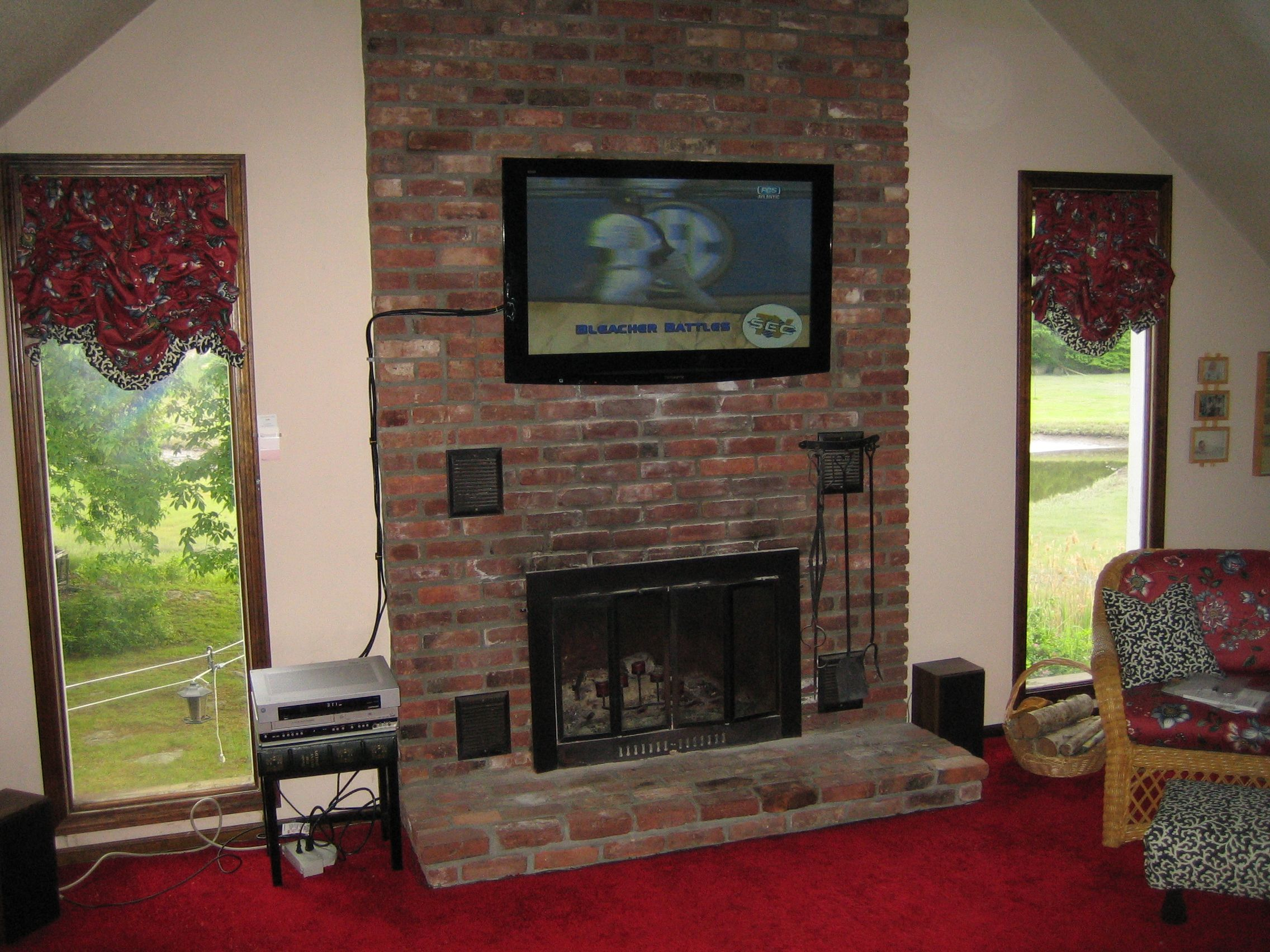 Tv Above Fireplace Tags Walls Mounting A Over