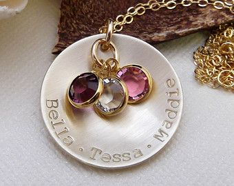 Gold Grandma Necklace Personalized Gold Mom Necklace Mommy Jewelry