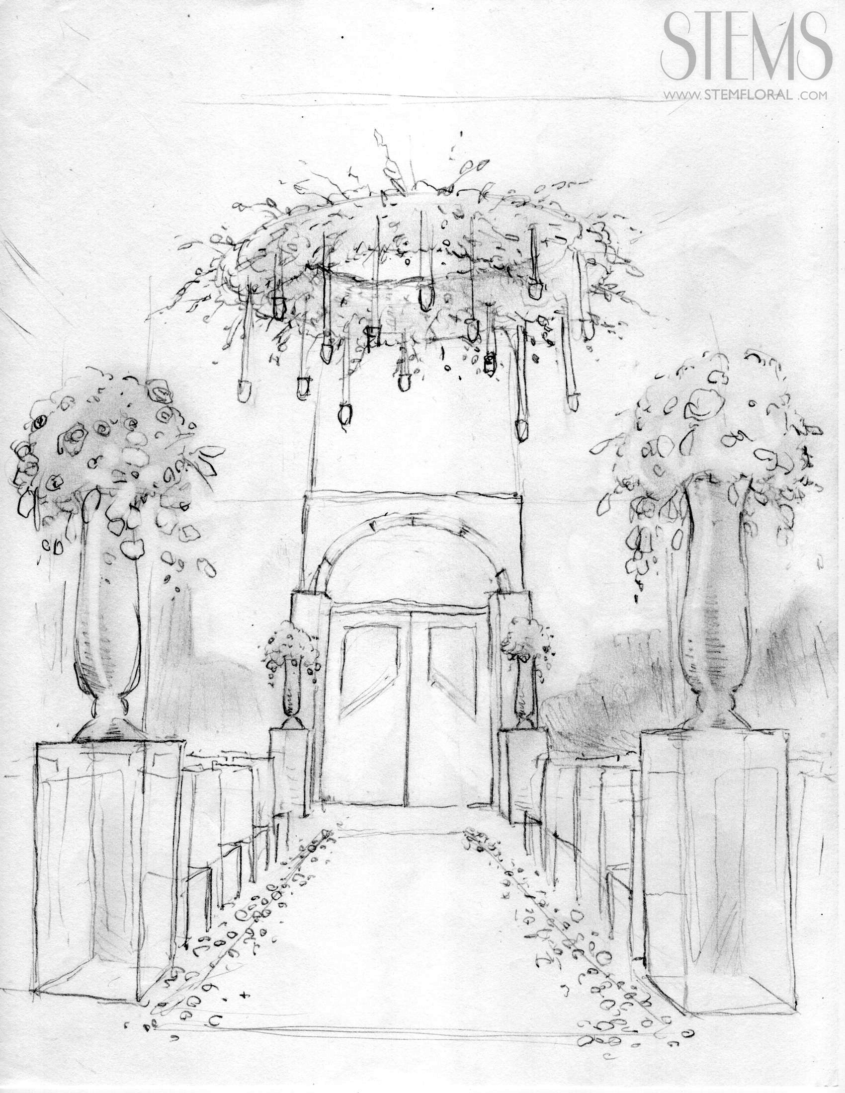 Pin By Stems Floral Design Event St On Sketches
